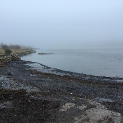 A foggy Galway Bay